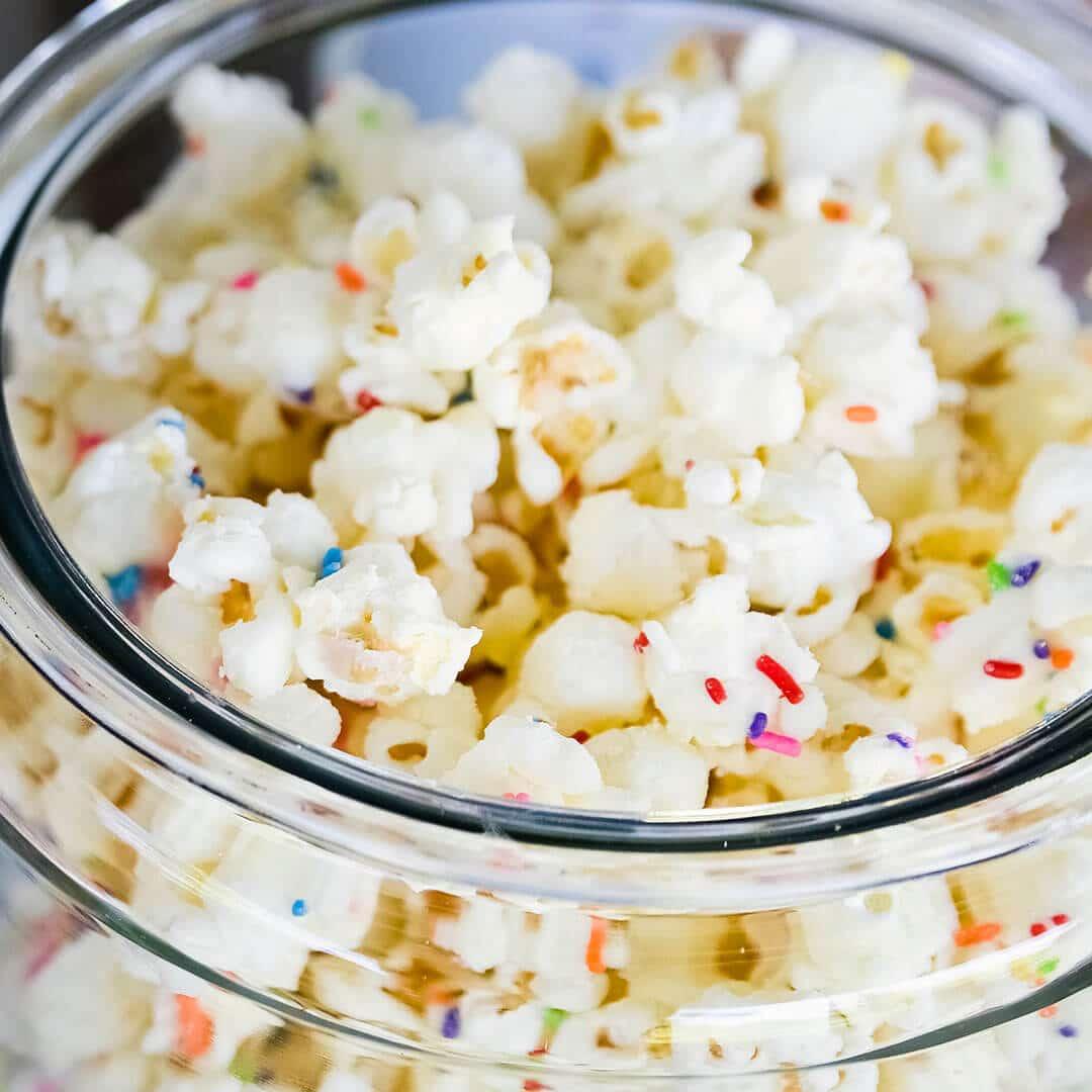 Cake Mix & Sprinkles Chocolate Popcorn | Ashlee Marie - real fun ...