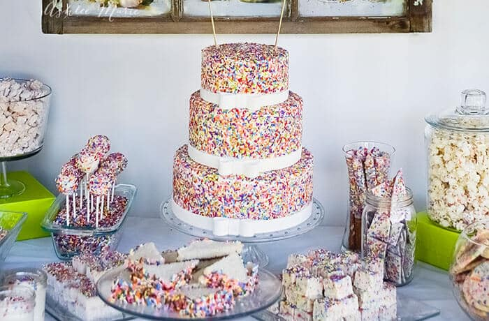 cake mix and sprinkles birthday party