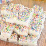 cake mix and sprinkles marshmallows