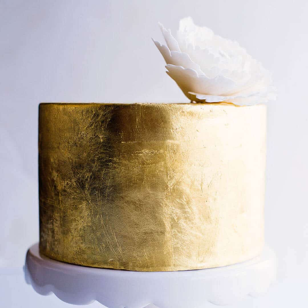 gold leaf cake tutorial