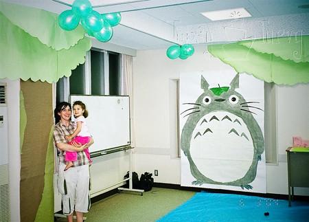 totoro 3rd birthday party decoration
