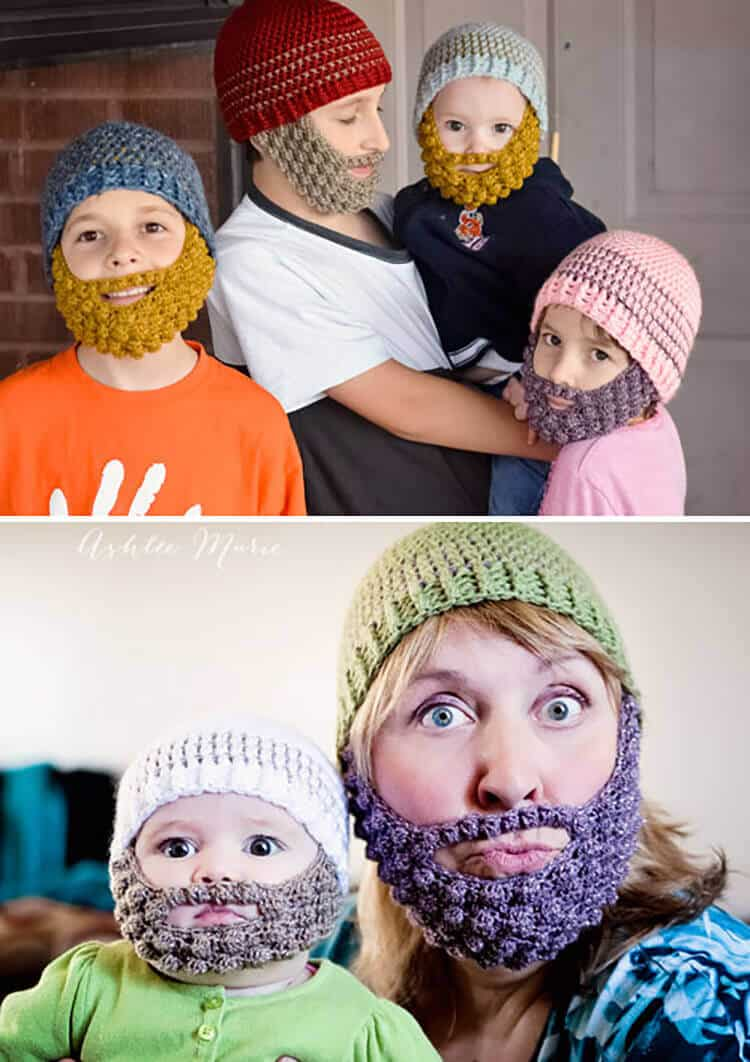 f63e75f7f2a Crochet Bobble Beard pattern - multiple sizes