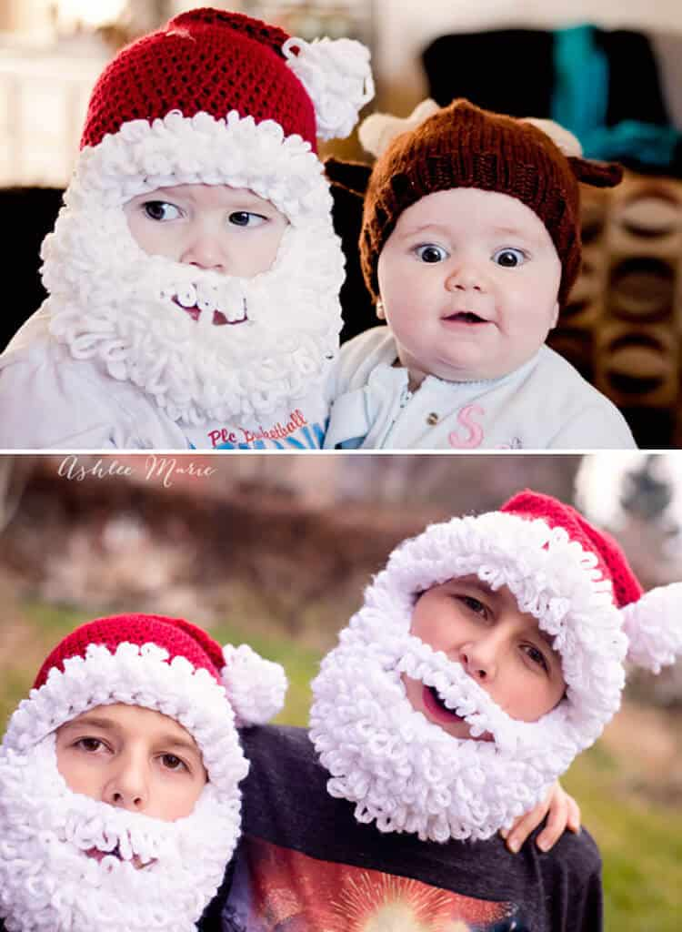 Double Loop Crochet Santa Beard Pattern - multiple sizes