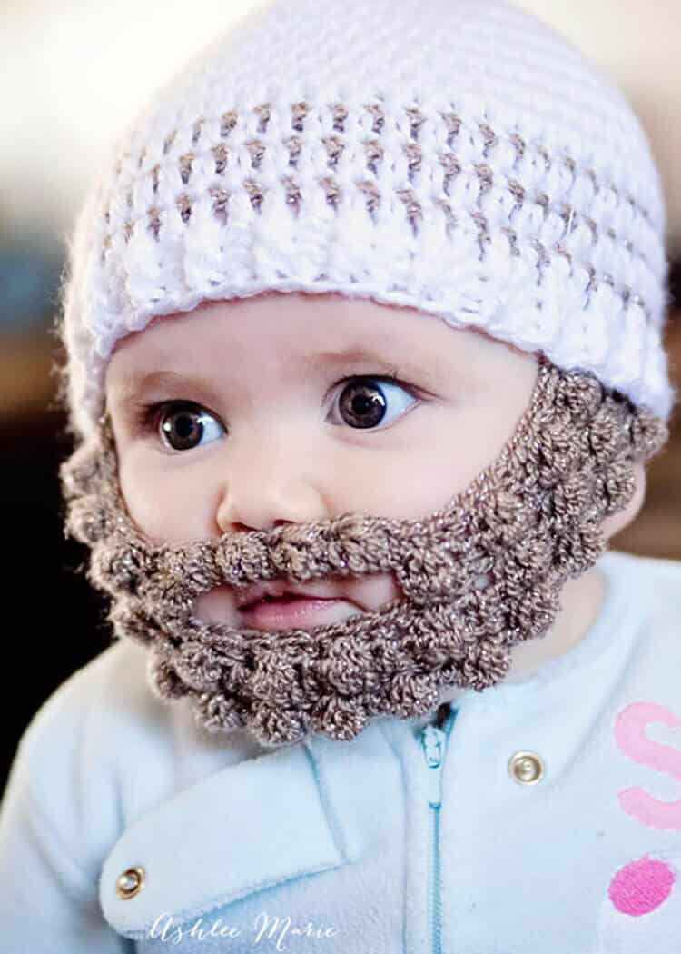 Crochet striped beanie pattern multiple sizes ashlee marie bearded infants are adorable and this free pattern in multiple sizes is easy to make bankloansurffo Choice Image