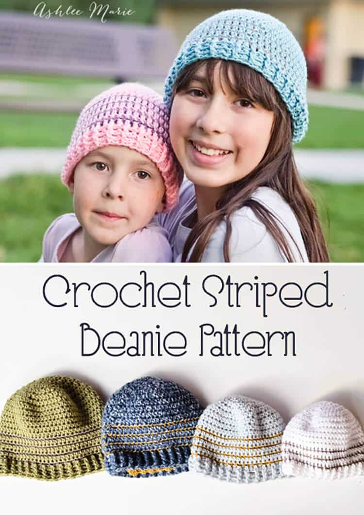 free pattern for this striped beanie