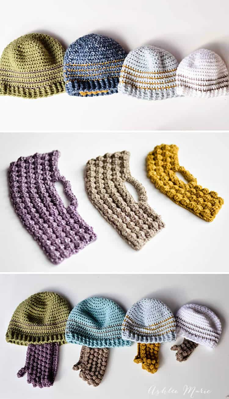 Crochet Striped Beanie Pattern- multiple sizes | Ashlee Marie - real ...