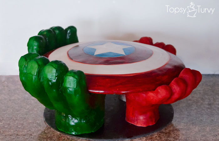 avengers-carved-birthday-cake-shield-hands-stand