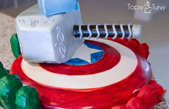 avengers-carved-birthday-cake-thors-hammer-sheild