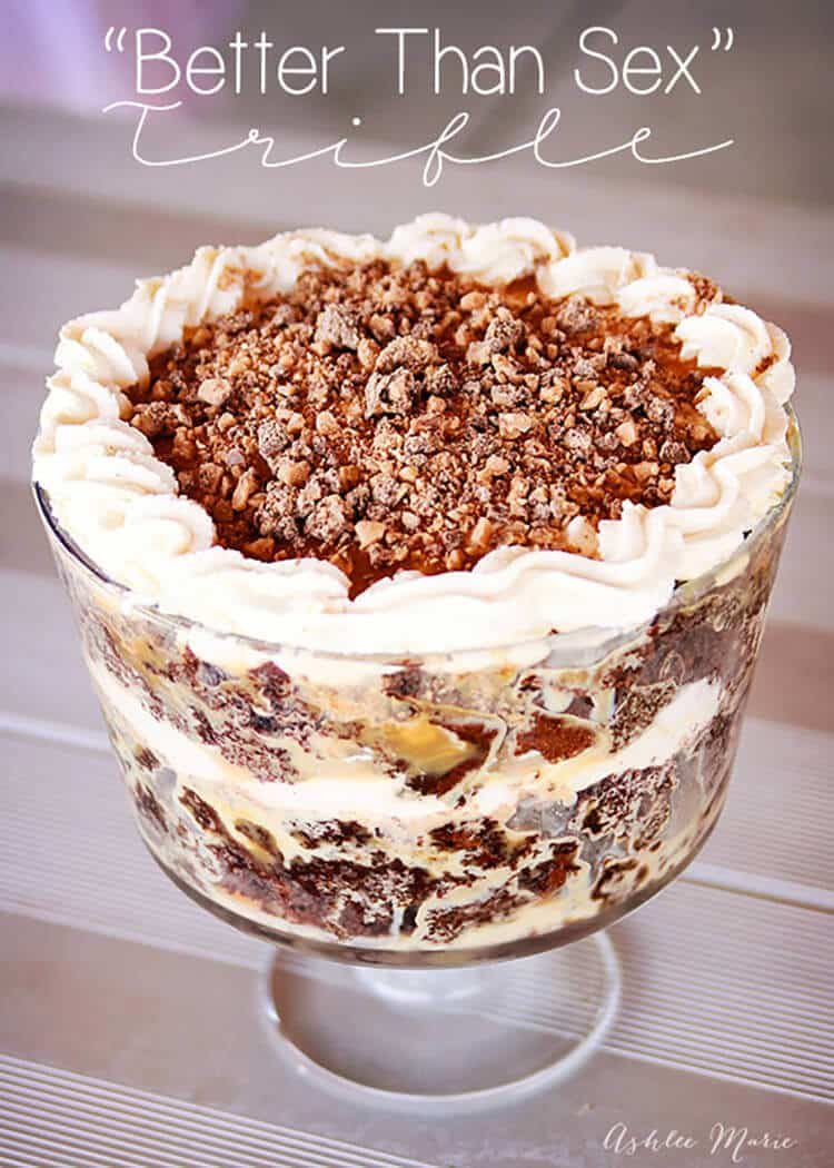 "this ""better than sex"" trifle is a delicious make ahead dessert that everyone loves"