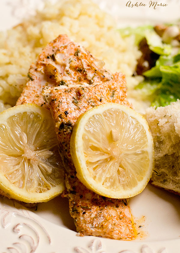 this baked lemon herb salmon is easy to make and taste amazing