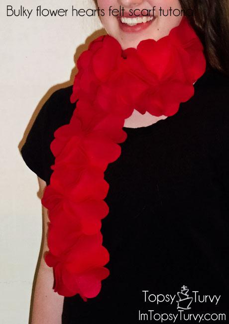 bulky-flower-hearts-felt-scarf-tutorial