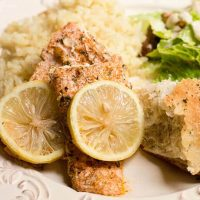 baked lemon herb salmon recipe