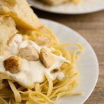 homemade alfredo sauce is easy to make and tastes amazing, add some homemade breadsticks and you'll fall in love