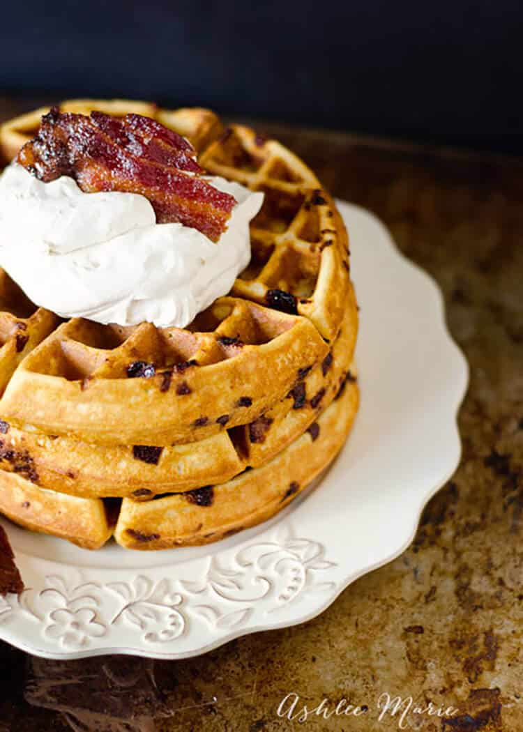 maple whipped cream candied bacon