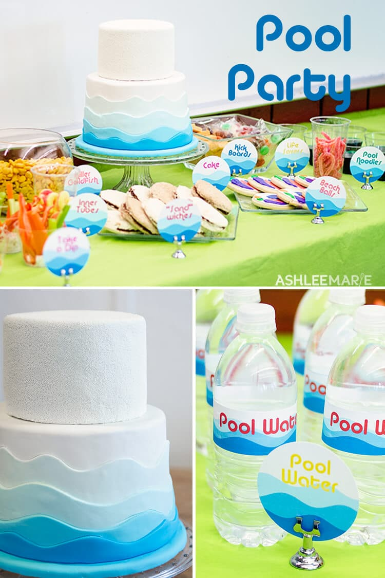 Pool Birthday Party Recipes Labels Ashlee Marie Real Fun