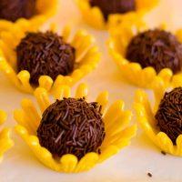sunflower chocolate truffles