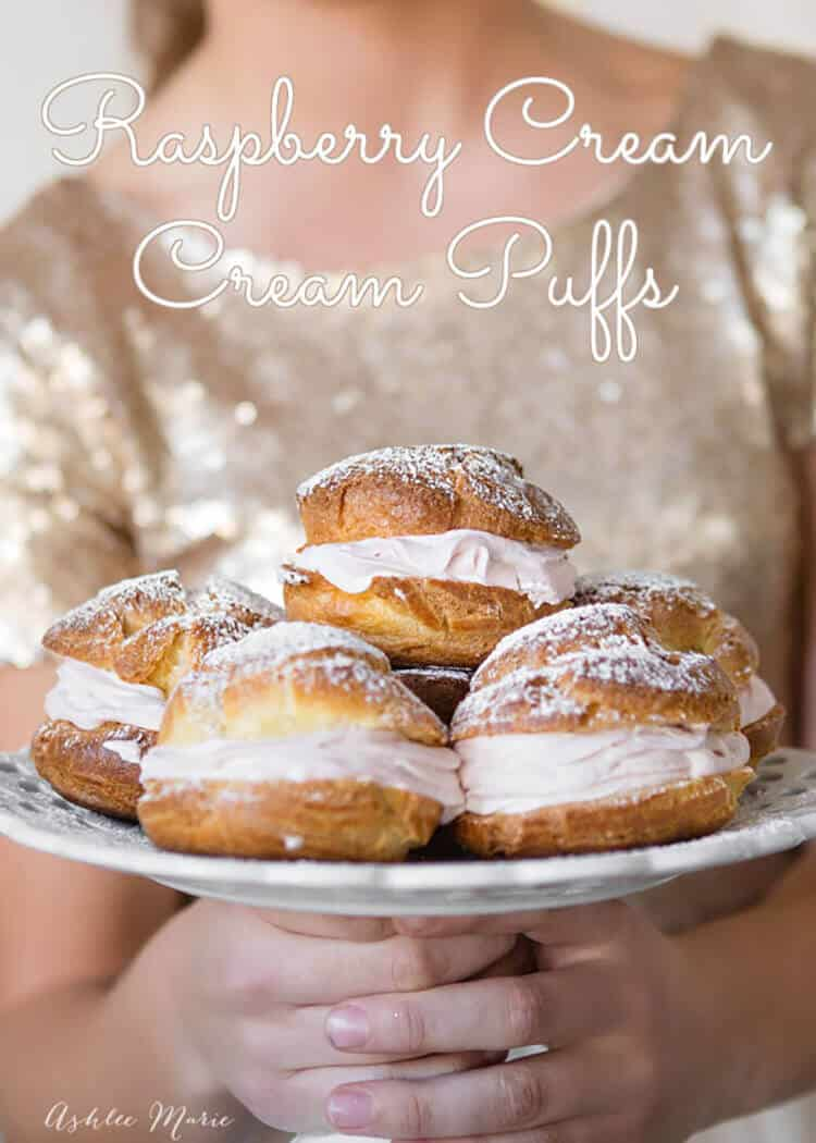 these raspberry whipped cream filled cream puffs are a sweet treat everyone loves