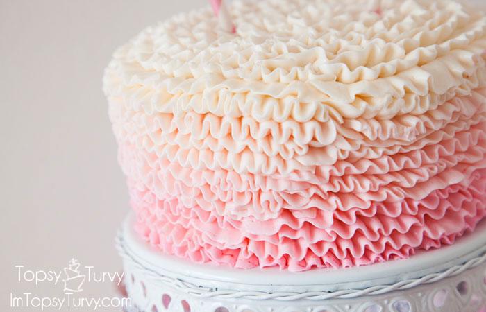 ombre-ruffled-buttercream-birthday-cake