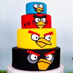 angry bird birthday cake