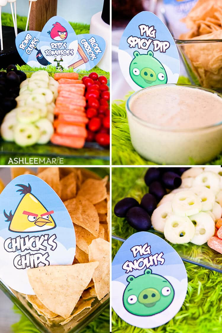 angry bird birthday party food and printables