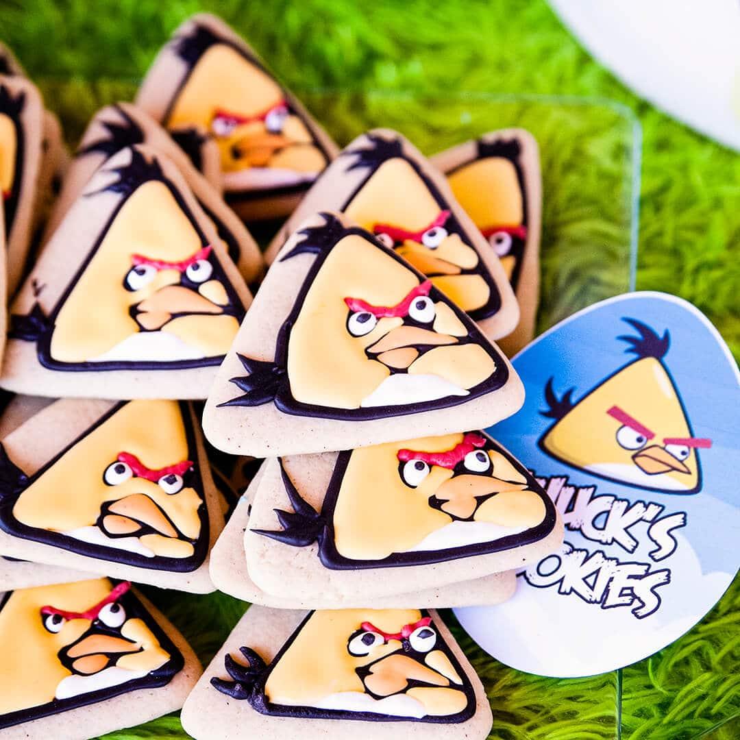angry bird chuck cookies