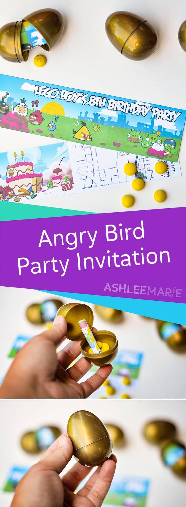 Angry Birds Birthday Party Invitations I M Topsy Turvy