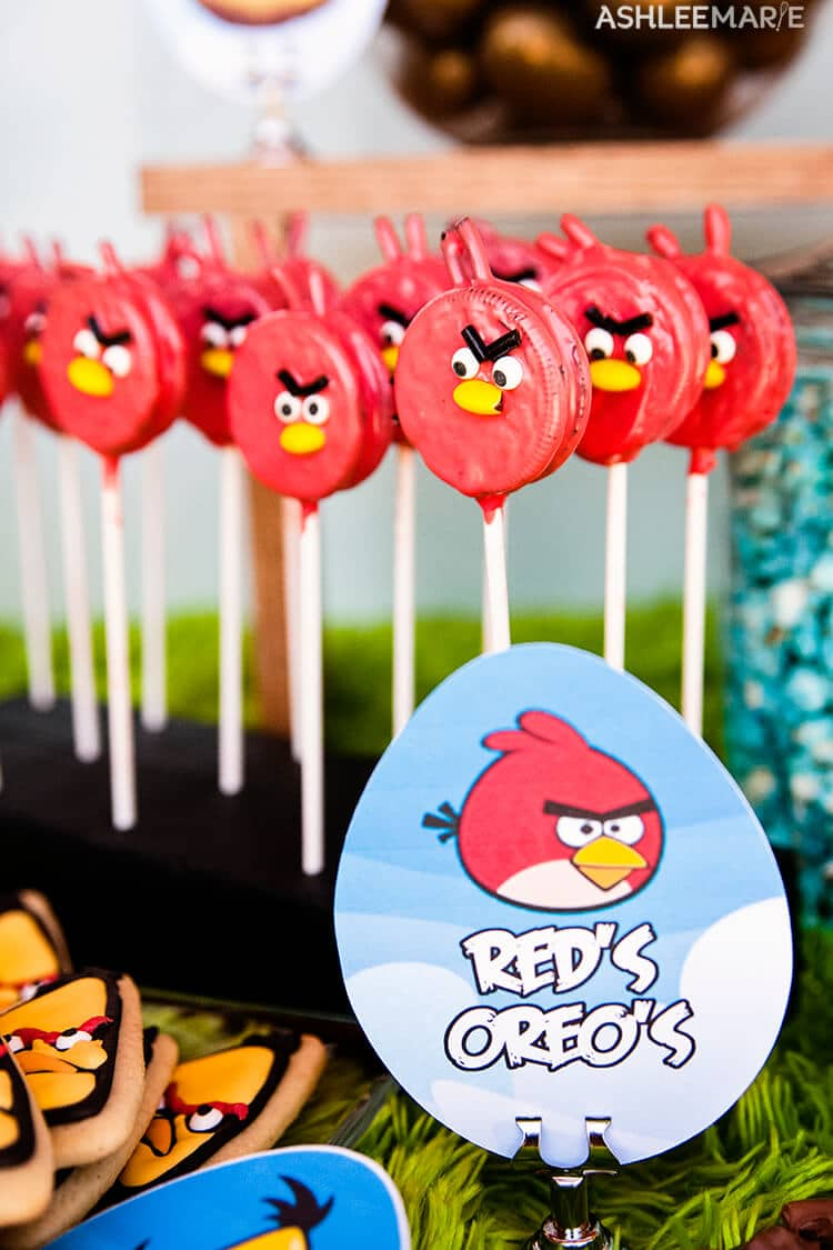 red oreo pops angry bird party