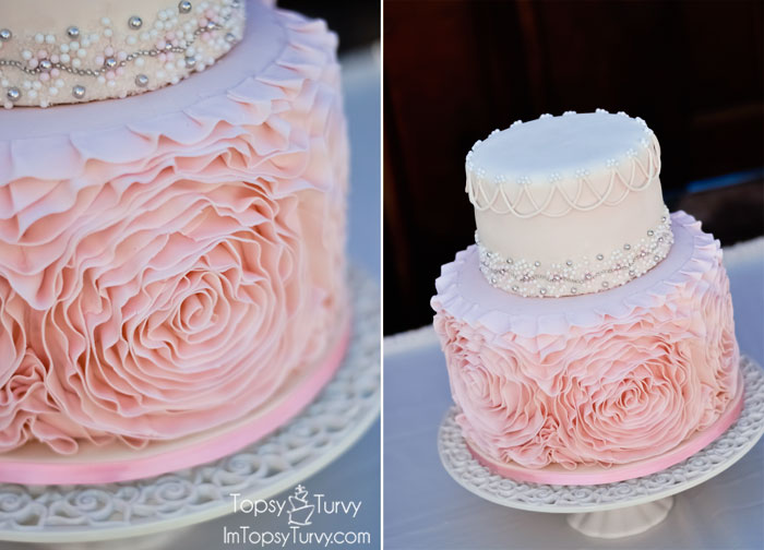 gumpaste-ruffled-rosette-wedding-cake