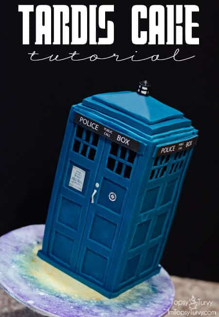 Easy Tardis Birthday Cake