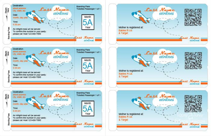 Free Boarding Pass Cake Ideas and Designs