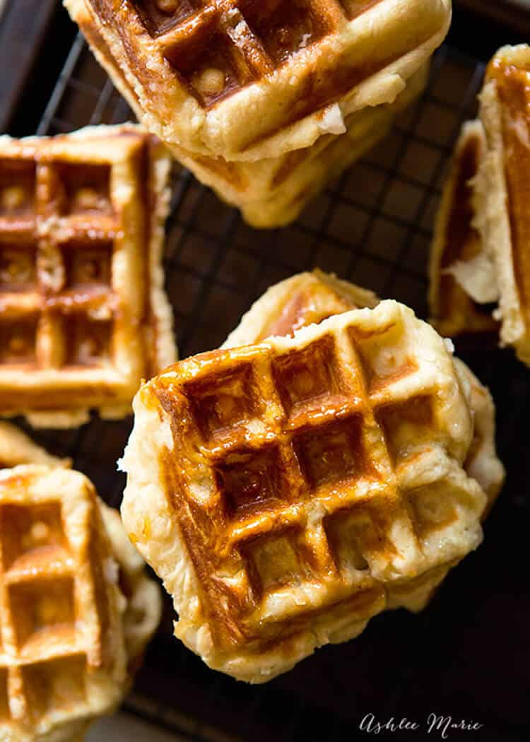 Traditional Belgian Liege Waffle Recipe Ashlee Marie