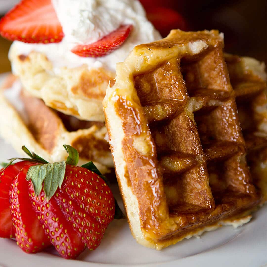 Food: Traditional Belgian Liege Waffle Recipe