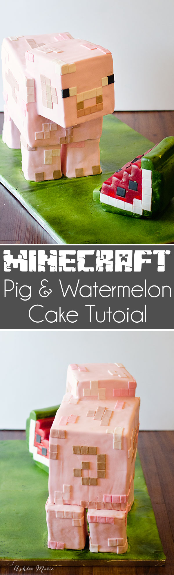 Super Minecraft Birthday Cake Tutorial Ashlee Marie Real Fun With Funny Birthday Cards Online Fluifree Goldxyz