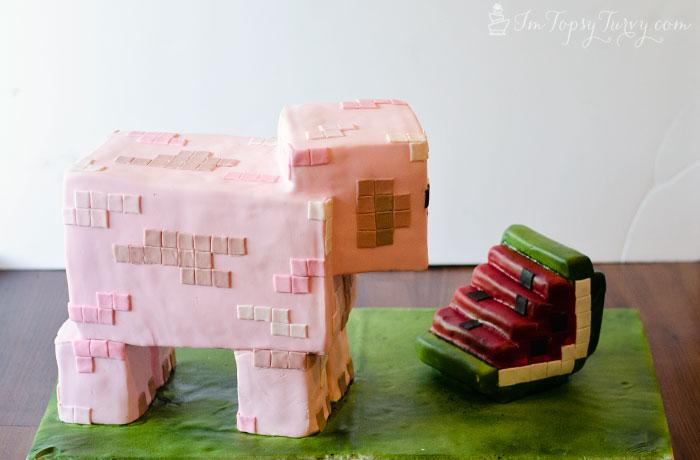 minecraft-cake-tutorial-watermelon-pig