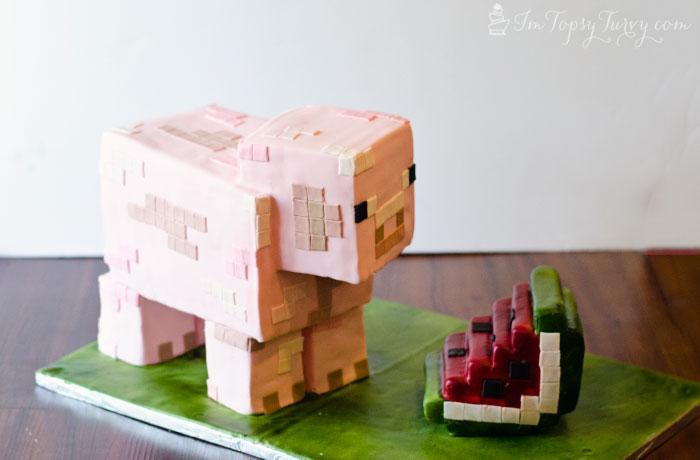 minecraft-cake-tutorial-pig
