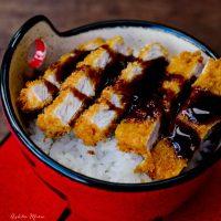 tonkatsu - breaded pork cutlet with sweet sauce