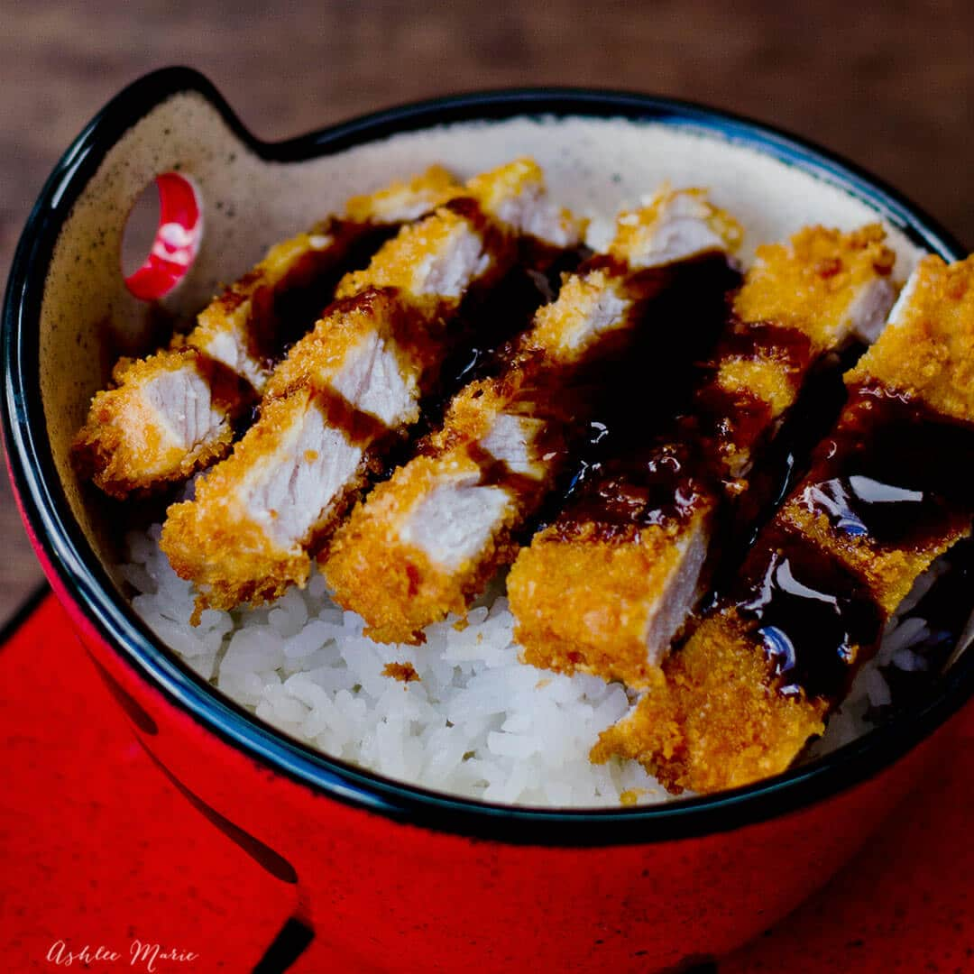 tonkatsu - breaded pork cutlet with sweet sauce