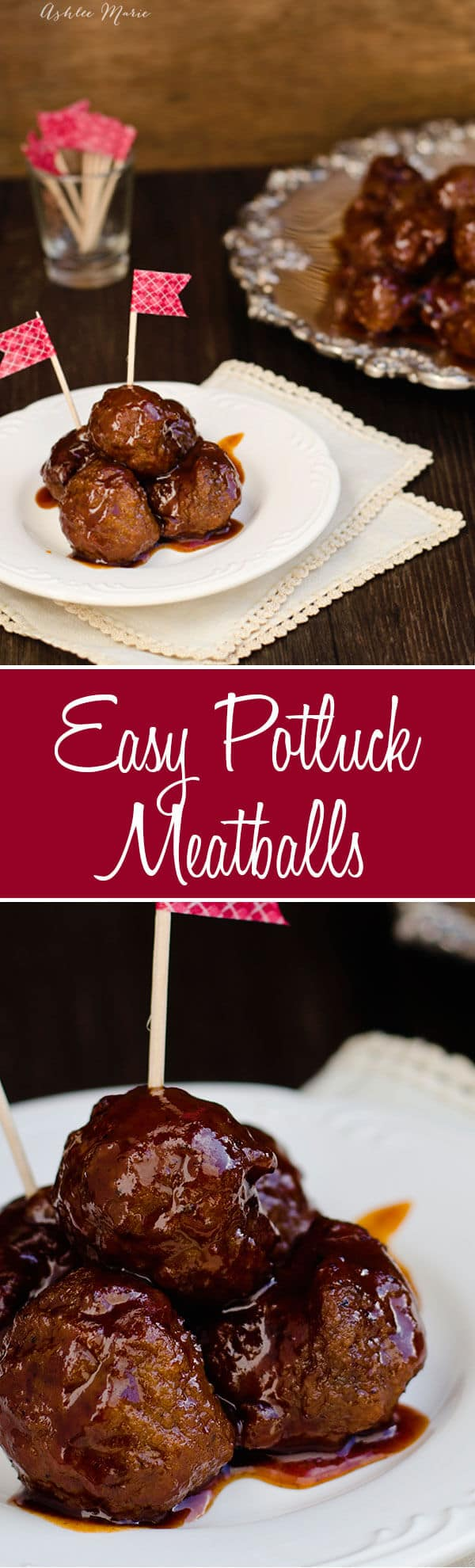 easy three ingredient meatballs - party food game day