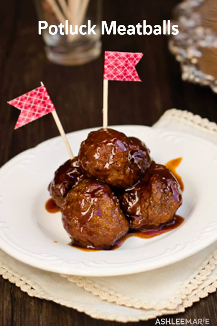 3 ingredient potluck meatballs recipe ashlee marie real fun with easy three ingredient meatballs party food game day superbowl food gameday forumfinder Images