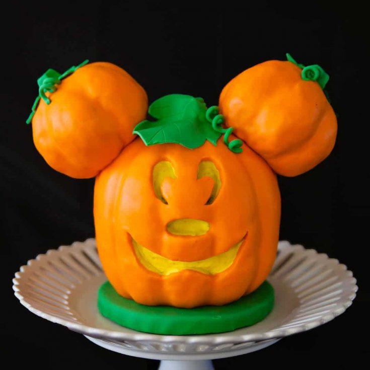 Mickey Mouse Jack o'Lantern Cake