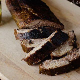 mustard glazed pork ribs
