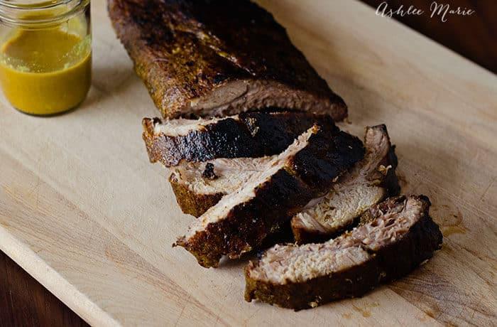 Mustard Glazed Pork Ribs | Ashlee Marie
