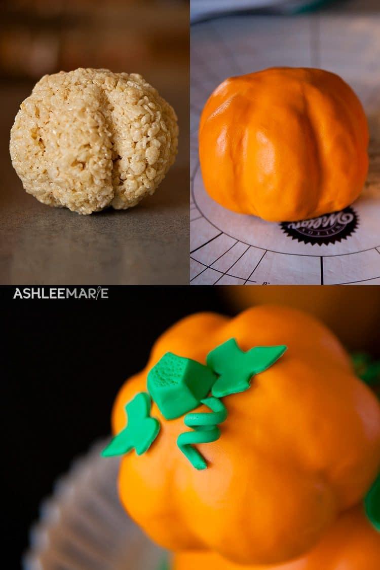 rice krispies pumpkin ears mickey mouse jack o lantern cake
