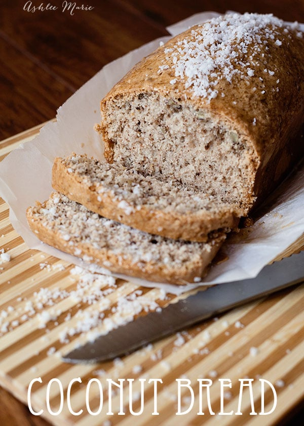 everyone loves this coconut bread with pecans.  I like to toast it and add some cream cheese, but even plain it tastes amazing