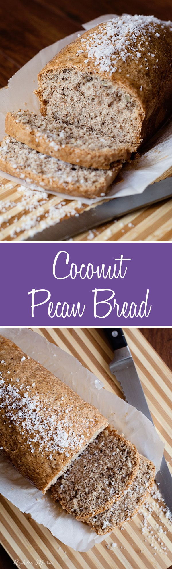 the most delicious coconut bread you will ever try.  Filled with a wonderful coconut flavor and pecan it is great warm or toasted, I top it with cream cheese
