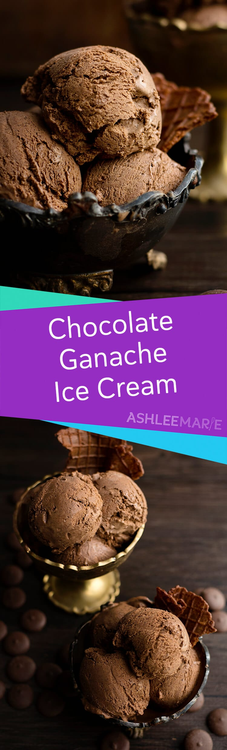 rich decadent homemade chocolate ganche ice cream recipe