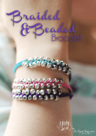 Braided & Beaded Bracelet