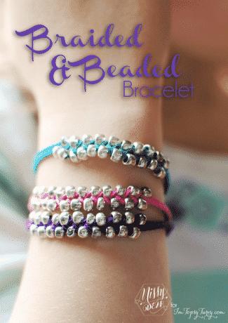 Braided & Beaded Bracelet