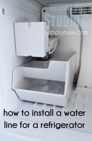 How To Install A Water Line For A Refrigerator Ashlee Marie