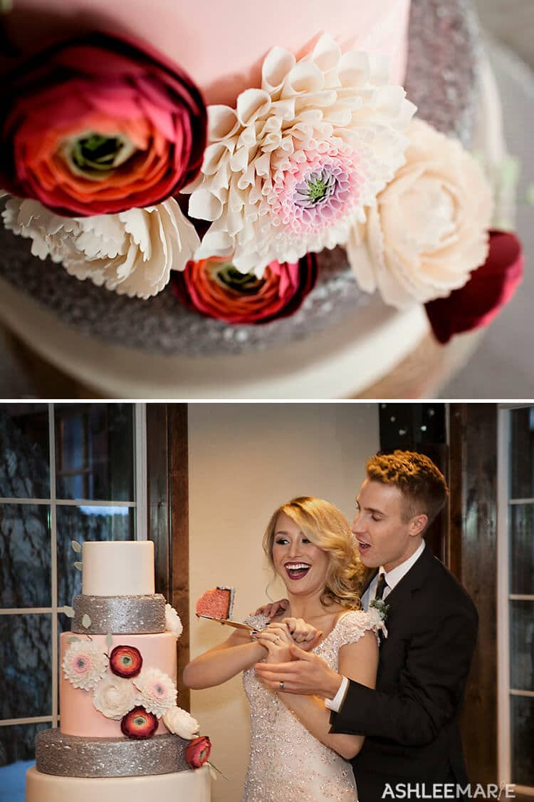 delicious and stunning winter wedding cake